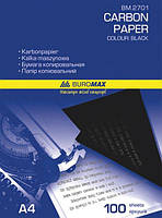 Копировальная бумага 100 листов, черный цвет,  Вuromax