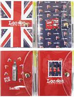 Блокнот с ручкой А7 60 листов, в пвх обложке, Лондон