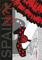 """Блокнот А6 160листов """"Испания"""",твердая обложка, офсет, внутренний блок бумаги - клеточка"""