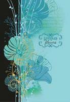 """Блокнот А6 160листов """"Цветы"""",твердая обложка, офсет, внутренний блок бумаги - клеточка"""