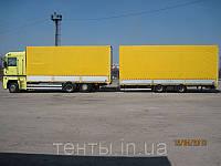 Тент на грузовой Рено с прицепом
