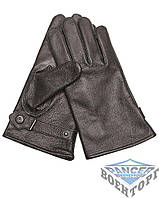 Кожаные перчатки GERMAN LINED LEATHER GLOVES черные