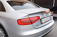 Спойлер лип на багажник Audi A4 B8 2008-2015 ABS пластик под покраску