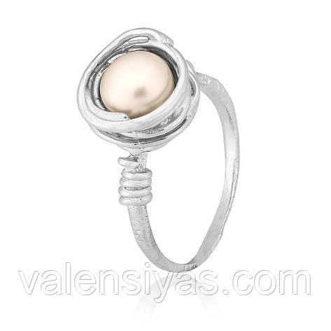 Кільце з срібла з перлами К2Ж/442, фото 2