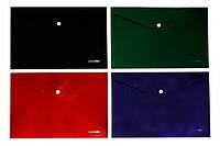 Папка с кнопкой А4 непрозрачная ассорти цветов 180мкм Economix