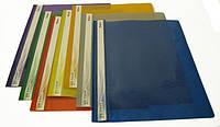 Папка-скоросшиватель пластастиковая А4, цветная подложка, глянцевый прозрачный верх