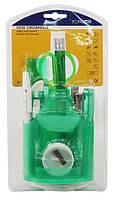 Набор настольный пластиковый 13 предметов, Economix (блистер) зеленый