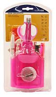Набор настольный пластиковый 13 предметов, Economix (блистер) розовый