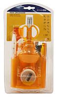 Набор настольный пластиковый 13 предметов, Economix (блистер) оранжевый