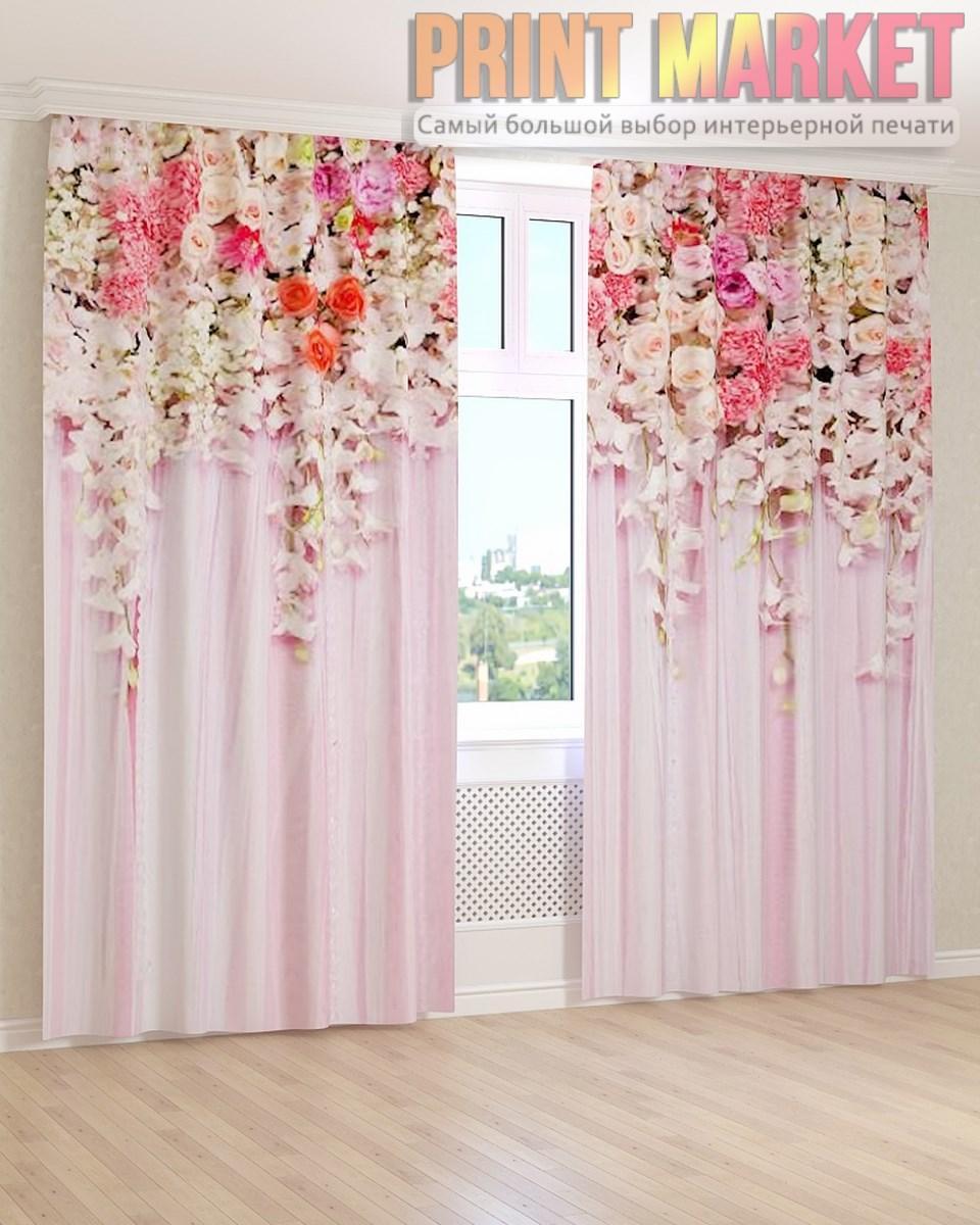 Фото шторы нежные цветы 3D
