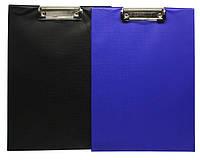 Планшет для записей односторонняя, формат А4, в пвх бложке, с 1м зажимом, в черном или синем цвете