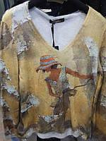 Свитер из ангоры Kazee в горчичном цвете