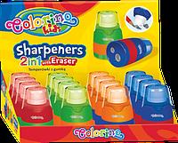 Точилка с контейнером и ластиком, Colorino