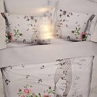 Сатиновое постельное белье евро размер ТМ Firuze Турция