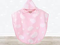 Пончо детское Irya - Cloud Pancosu розовое