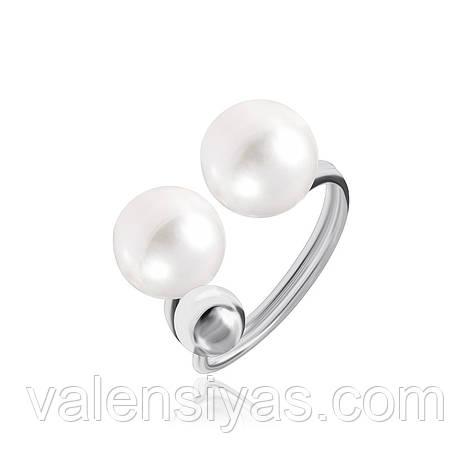 Срібне кільце з перлами К2Ж/805, фото 2