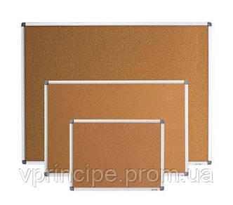 Доска пробковая  60*90 алюминиевая рамка  bm 0017