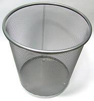 Корзина для бумаг, металлическая сетка, серебряного цвета, высота 28см, диаметр 26,5см, Skіper