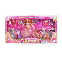Кукла с нарядом 969-B  дочка 10см,платья,косметика,аксессуары,в кор-ке,68-33-6см