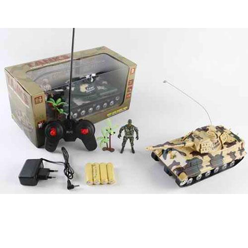 Танк AKX520B  р/у, аккум, 25см, звук,свет,рез.колеса,2цвета,в кор-ке,29-14-14см