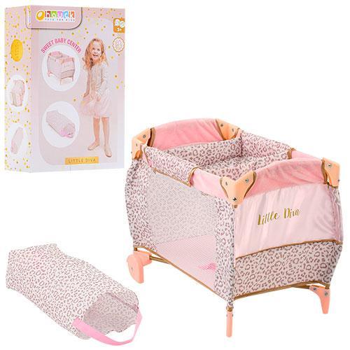 Кровать D-90186  для куклы,52-34-37см 2в1,колеса2шт,чехол,в кор-ке,40,5-28-12шт