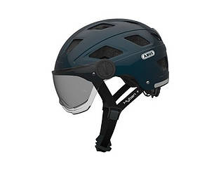 Велошлем ABUS HYBAN + clear visor Black (L)