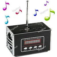 Звуковая мини колонка портативная акустическая MP3 плеер 2 динамика FM радио для телефонов и других устройств