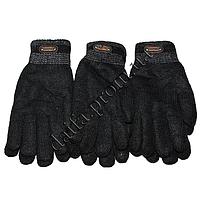 Мужские вязаные двойные перчатки на меху T1821 оптом в Одессе