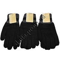 Мужские вязаные двойные перчатки T3512 оптом в Одессе