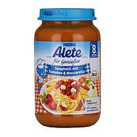 Детское пюре Alete Nestle Спагетти с помидорами и моцареллой с 8-го месяца 220 г