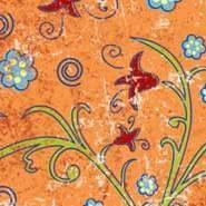 """Бумага для дизайна, """"Парадис"""" мелкие цветы на оранжевом, 20*30см, 300г/м2, Ursus"""