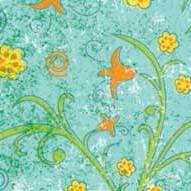 """Бумага для дизайна, """"Парадис"""" мелкие цветы на голубом, 20*30см, 300г/м2, Ursus"""