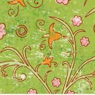 """Бумага для дизайна, """"Парадис"""" мелкие цветы на зеленом, 20*30см, 300г/м2, Ursus"""