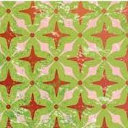"""Бумага для дизайна, """"Парадис"""" орнамент на зеленом, 20*30см, 300г/м2, Ursus"""