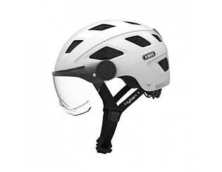 Велошолом ABUS HYBAN + clear visor Cream White M