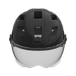 Велошолом ABUS HYBAN + smoke visor Black (M)