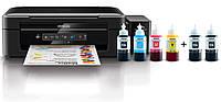 МФУ цветное струйное A4 Epson L386 + Wi-Fi фабрика печати с красками