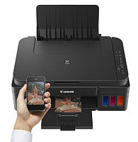 МФУ Canon Pixma G3400 и  СНПЧ с красками в комплекте