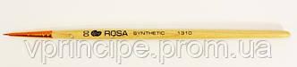 Кисть Синтетика круглая №00 с деревянной короткой ручкой, 1310, Rosa