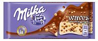Шоколад MILKA WAVES with caramel crispearls 81г С рисовыми шариками