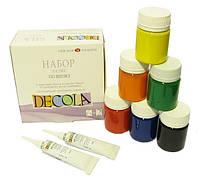 Набор акриловых красок по шелку Decola с 2 резервами 40 мл 6 цветов