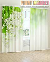 Фото шторы маленькие белые цветы