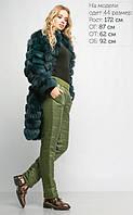 Утепленные женские штаны зеленые, размеры 44-50