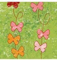 """Бумага для дизайна, """"Парадис"""" бабочки на зеленом, 20*30см, 300г/м2, Ursus"""