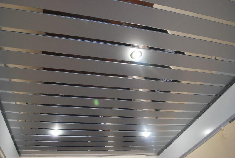 Рейкова стеля ( сріблястий металік 9006 + Дзеркало С1 )