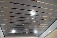 Реечный потолок ( серебристый металлик 9006 + Зеркало С1 )
