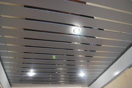 Рейкова стеля ( сріблястий металік 9006 + Дзеркало С1 ), фото 2