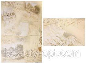 "Бумага для декупажа, 30,8*44см, ""Памятные путешествия"", Cheap Art"