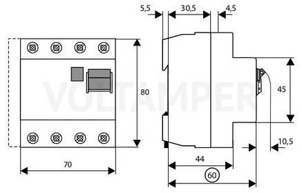 Пристрій захисного відключення PF4-40/4/03 (293176) Eaton, фото 2