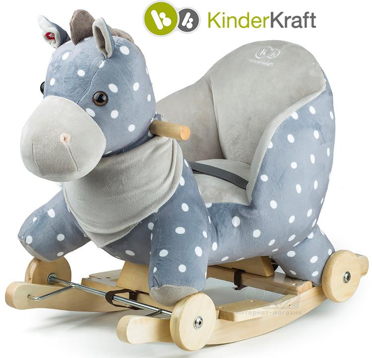 Плюшевая качалка-каталка Лошадка марки Kinderkraft